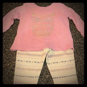 Girls 4t matching long sleeve shirt and leggings